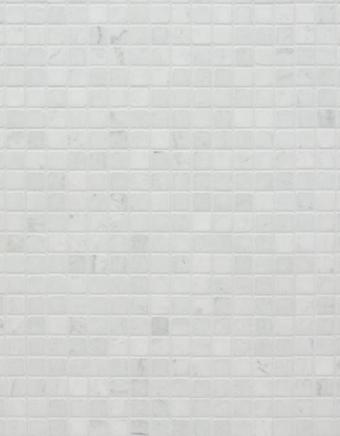 タイル 大理石ビアンコカララ(マット)25mm角
