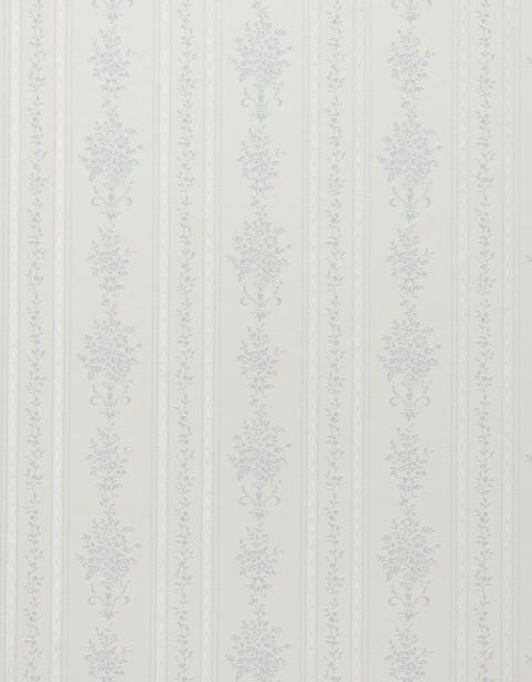 壁紙 花柄 × ストライプ